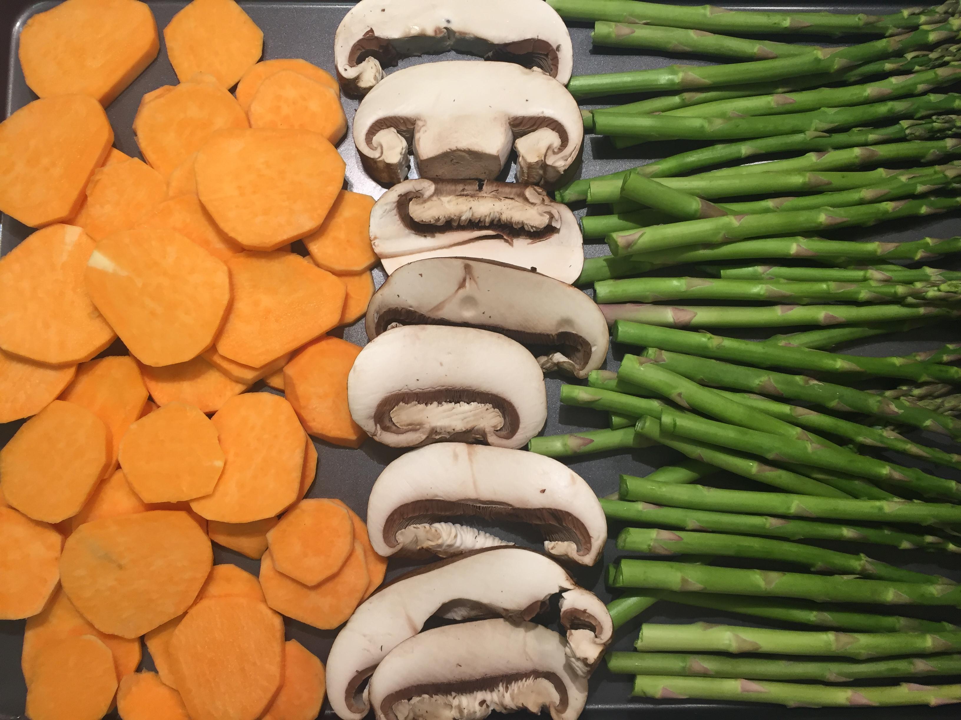 Roast Remaining Mushroom And Add Vegetables To Enhance The Dinner