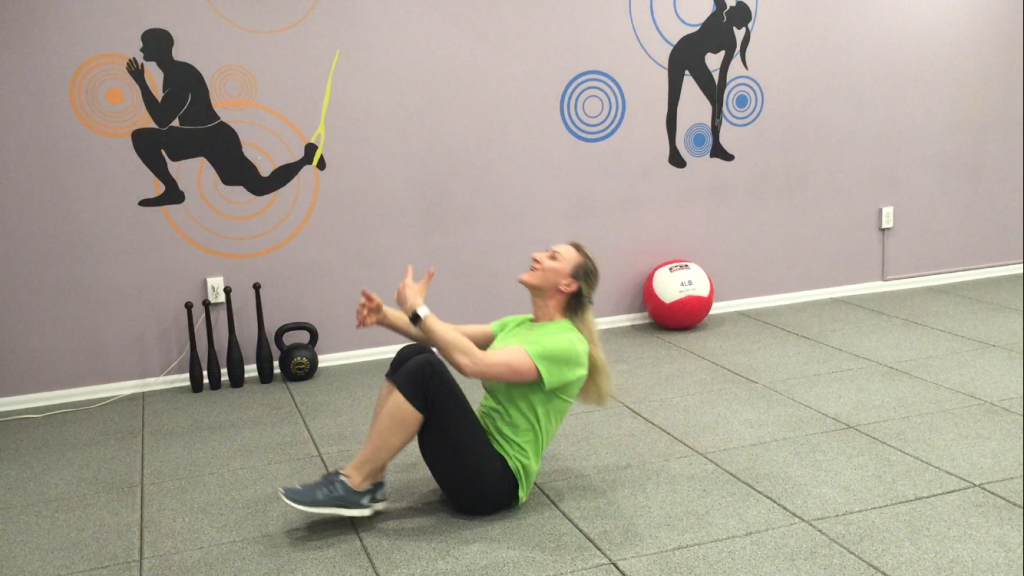 8. Knees to Chest and Crunch